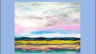 Fluid Acrylics Simple Spatual twilight Serene Sky scape# 3739-11.14.18