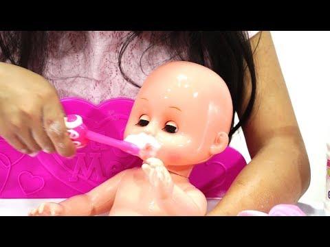 Baby Doll Bath Time 💖 Mainan Anak Boneka Bayi Gosok Gigi Mandi Sabun + Shampo 💖 Let's Play Jessica