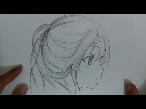 Cara Menggambar Wajah Anime Cewek - YouTube