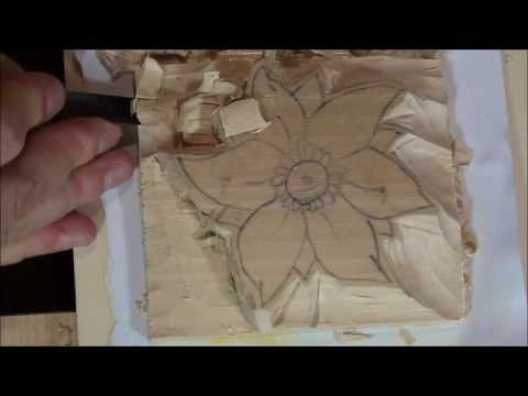 Woodcarving Flower - Roughing out