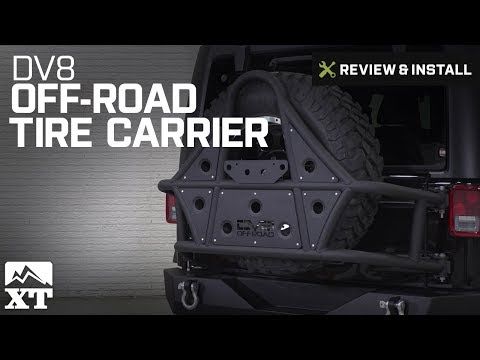 Jeep Wrangler DV8 Off-Road Tire Carrier (2007-2018 JK) Review & Install