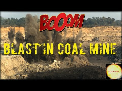REAL FOOTAGE OF BLASTING IN MINE ||Drilling blast|| COAL BLAST || AMAZING VIDEO OF COAL MINE BLAST