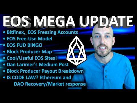EOS Mega News Update: Bitfinex, Free-Use Model, Useful Sites, BP Pay & Map, Freezing Accounts +MORE