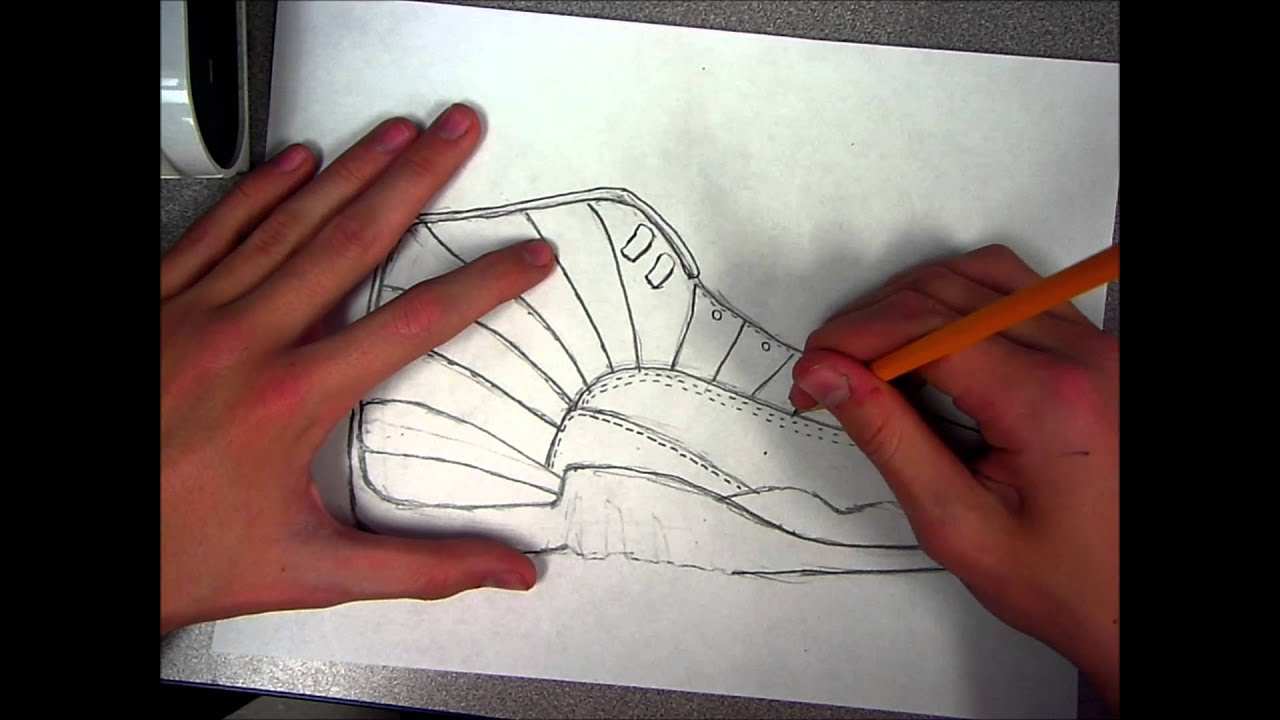how to draw jordan 12 speed art youtube. Black Bedroom Furniture Sets. Home Design Ideas