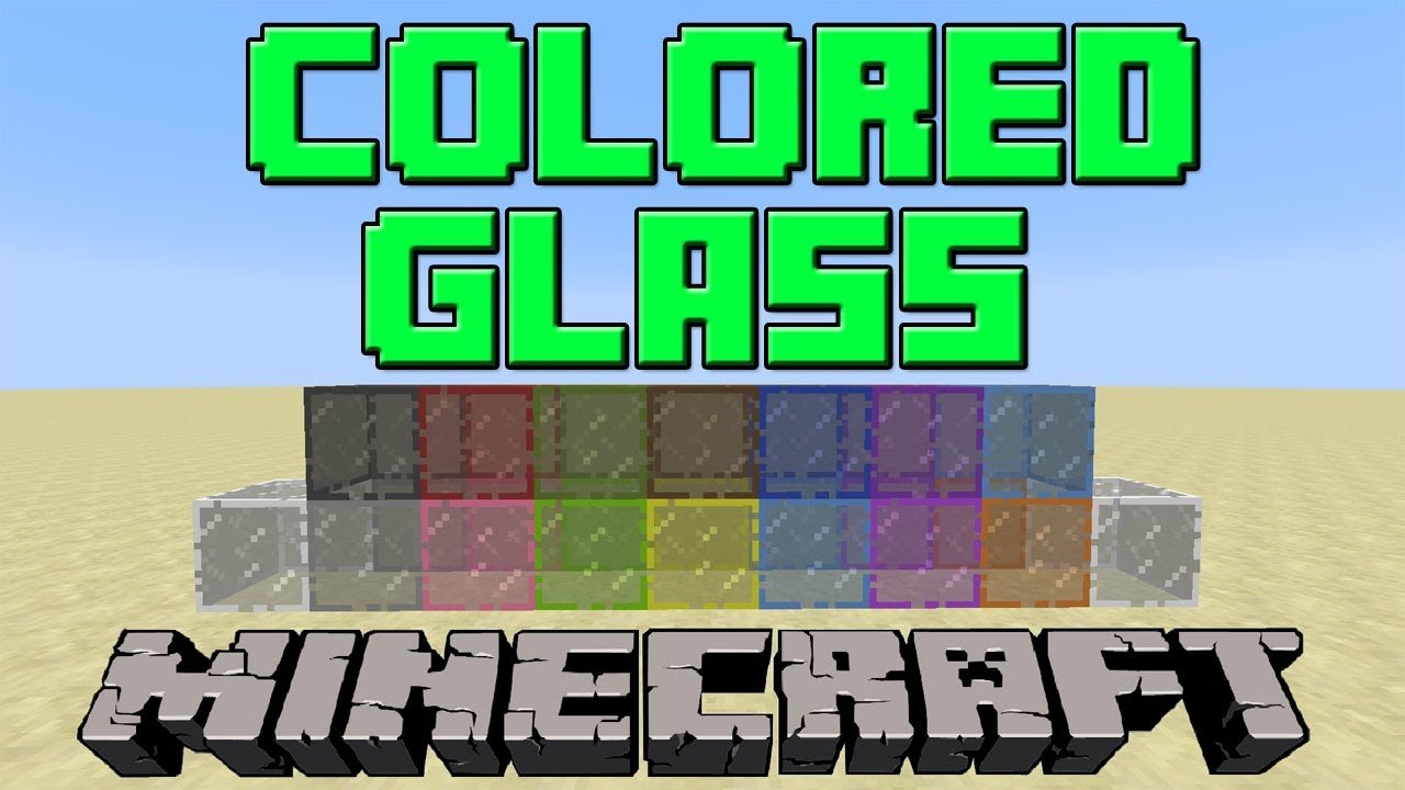 How To Make Colored Stained Glass In Minecraft Update 1 7 9 Youtube