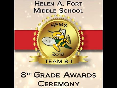Helen A. Fort Middle School Team Awards 8-1