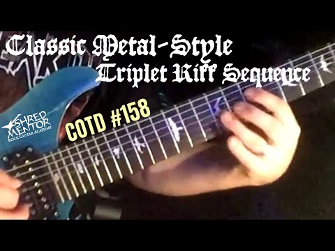 Classic Metal-Style Triplet Riff Sequence | ShredMentor Challenge of the Day #158