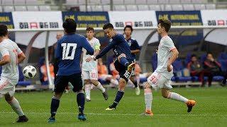 U-16日本代表 vs U-16スペイン代表ダイジェスト[U-16 INTERNATIONAL DREAM CUP 2018 JAPAN presented by 朝日新聞]