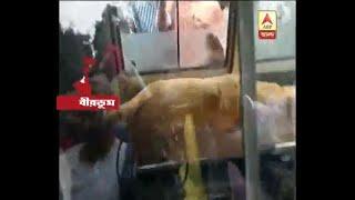 Hanging body of the Girl Student recovered from Patha Bhavana at Visva-Bharati