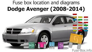 Fuse box location and diagrams: Dodge Avenger (2008-2014) - YouTube | 2008 Avenger Fuse Box |  | YouTube