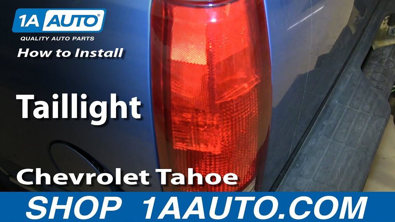 How To Replace Tail Light 95 00 Chevy Tahoe