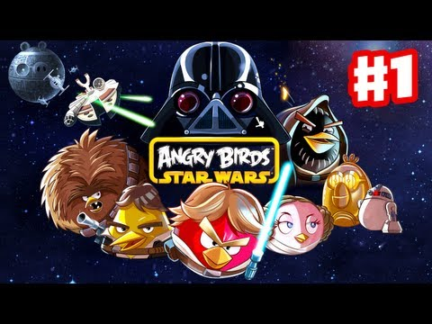 Angry Birds Star Wars - Gameplay Walkthrough Part 1 - Tatooine 3 Stars (Windows PC, Android, iOS)