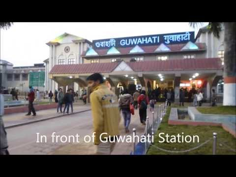 Train trip from Guwahati to Jorhat, Assam, India