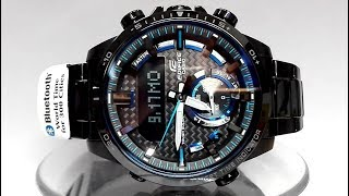 Casio Edifice ECB-800DC-1A Bluetooth Solar powered watch video 2018