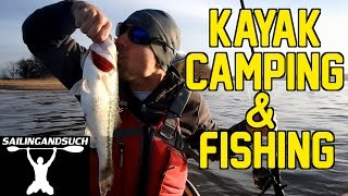 kayak fishing and camping at lake eufaula alabama