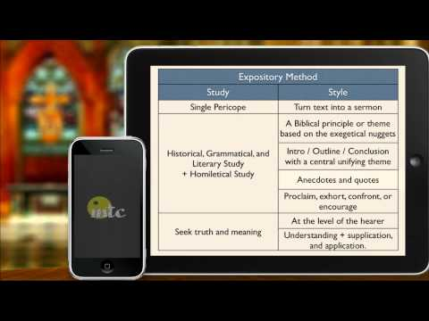 The Expository Method of Preaching - YouTube