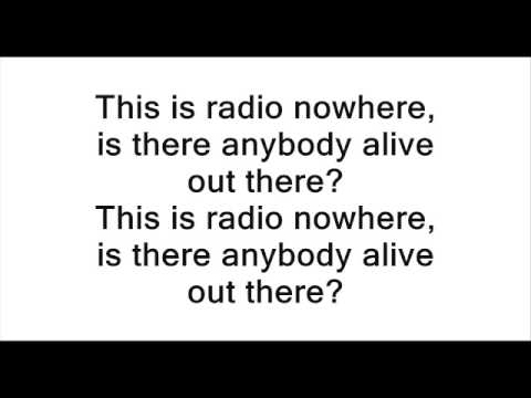 Bruce Springsteen - Radio Nowhere @ Lyrics