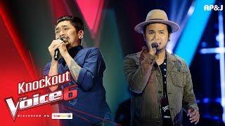 Knock Out : บุ๊ค - ยื้อ VS ปอ - กลัวความสูง - The Voice Thailand 6 - 14 Jan 2018