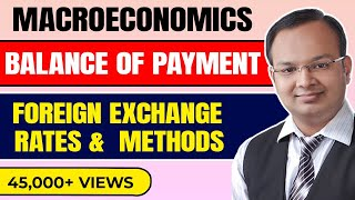 #1| Balance of payment | Foreign exchange | Foreign exchange rate and methods