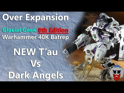 NEW CODEX T'au VS Dark Angels - 8th Edition Warhammer 40K Batrep - 1,500pts