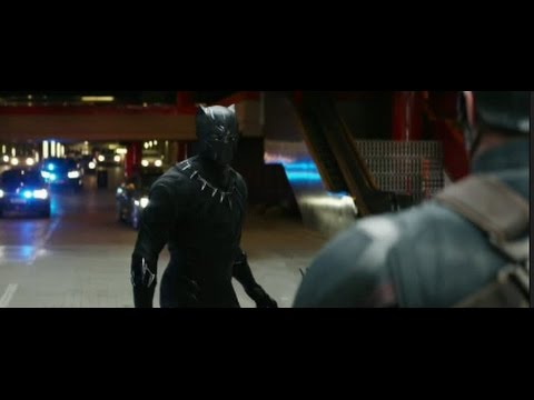 Captain America Civil War Black Panther Chase Scene Hd Scene