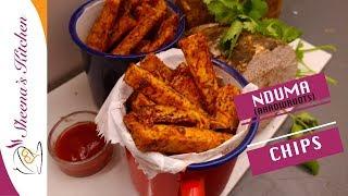 HOW TO MAKE NDUMA |OVEN ROASTED NDUMA CHIPS (Arrowroot chips)