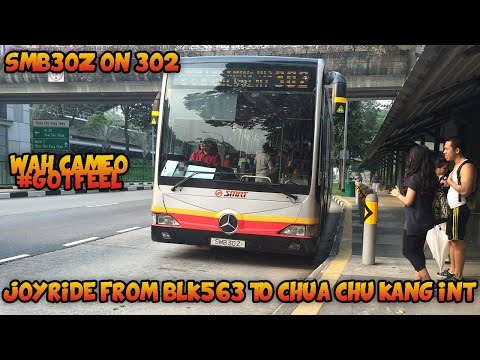 [SMRT]Mercedes-Benz OC500LE SMB30Z On Service 302 From BLK563 To Chua Chu Kang Int