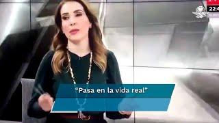"""""""Pasa en la vida real"""", escribió la periodista en sus redes sociales luego de la viralización del video"""