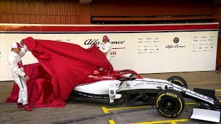Alfa Romeo Take The Covers Off 2019 Car | 2019 Formula 1 Car Launches
