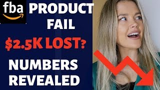 My FIRST AMAZON FBA PRODUCT - ALL the Numbers & Failures - Sharing the Lesson I Learned the Hard Way