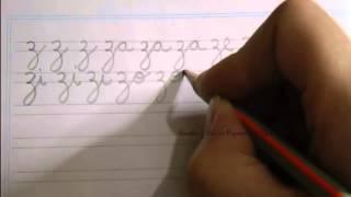 Caligrafía: Cómo escribir la letra z minúscula con las vocales