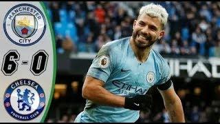 Manchester City vs Chelsea 6-0   highlight   score football