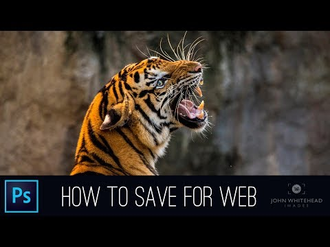 Saving For Web In Adobe Photoshop CC