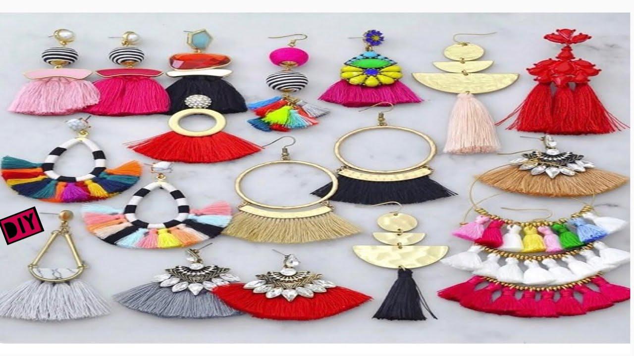 8 Silk Thread Tassel Earrings Diy Jewelry Ideas Youtube