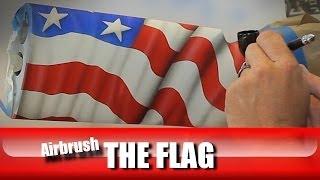 POW MIA2 how to airbrush a flag