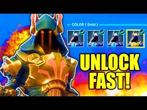 HOW TO UNLOCK GOLD ICE KING FAST! FORTNITE ICE KING CHALLENGES FORTNITE HOW TO UNLOCK ICE KING!