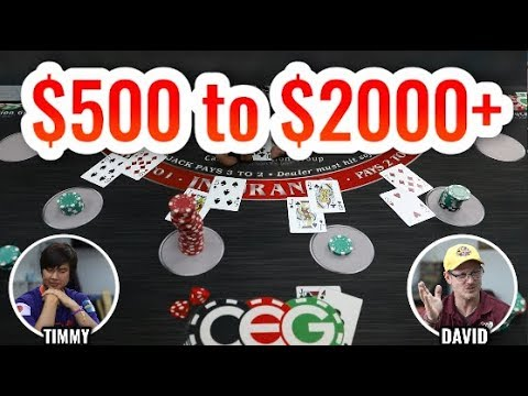 From $500 To $2000 Blackjack Session! - Live Blackjack #1
