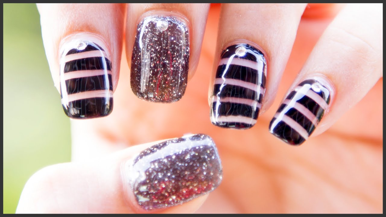 Black Nail Designs With Diamonds: Best ideas about diamond nail ...