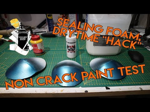 """How i Seal Foam + Drytime """"Hack"""" and Non Cracking Paint Test - 동영상"""