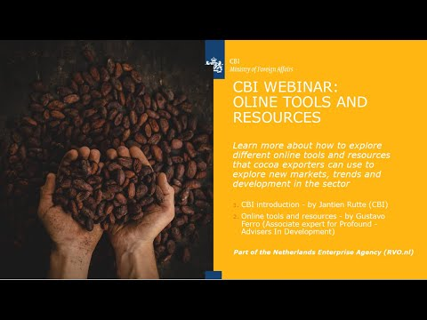 Webinar: Cocoa & Chocolate - Online Tools and Resources