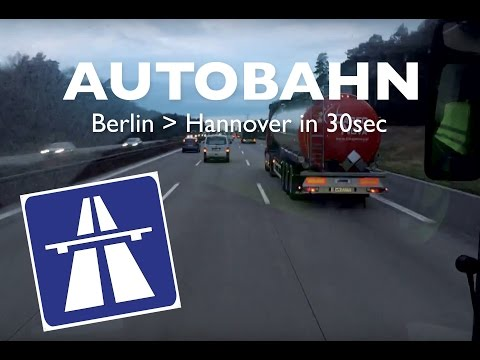 Time-Lapse  German Autobahn. Berlin to Hannover