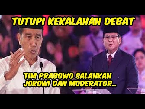 Tutupi Kalah Debat, Tim Prabowo Ramai Ramai Salahkan Jokowi Dan Moderator!