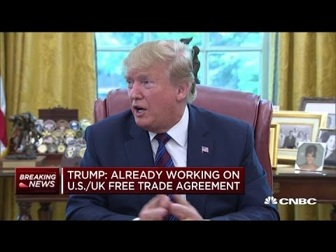 Trump: Already working on free trade agreement with UK's Boris Johnson