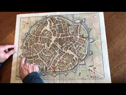 Mechelen Malines Brabant Belgium C. 1740 Basire Engraved Large City Plan Map