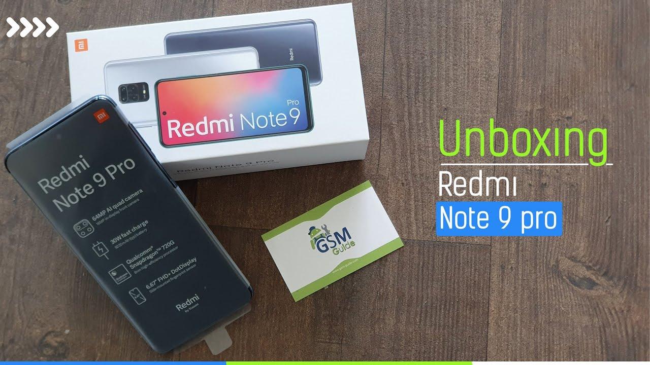 Redmi Note 9 Pro Unboxing   (Aurora Blue, 128GB) (6GB RAM) -Gsm Guide