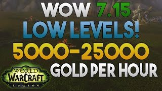 WoW Legion - Low Level - Gold Farming: 5000 - 25000 Gold Per Hour - Crimson Whelplings