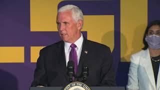 WATCH: Vice President Mike Pence visits Louisiana amid coronavirus surge