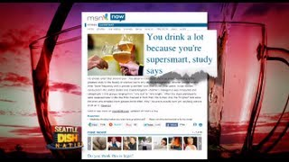 Study Finds Smarter People Drink More!