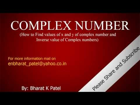 Online Classes of Mathematics (how to find a value of x and y  and Inverse of complex Number)