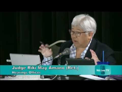 TMT CCH Law Prof David Callies, Hawaiian Naea Stevens 12/16/16 full video